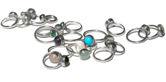 jewelry ring pile