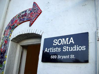 soma artist studios door