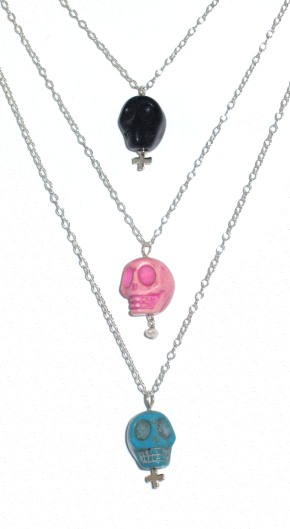 Spring Jewelry- Skull Necklaces