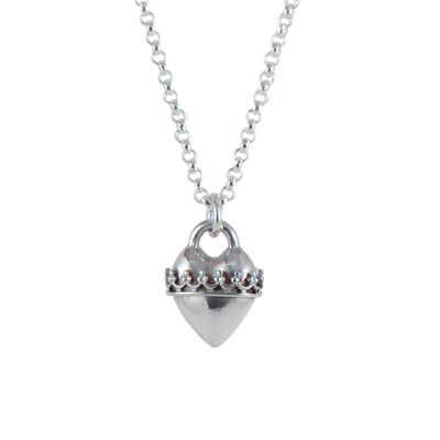 heart silver crown wrap