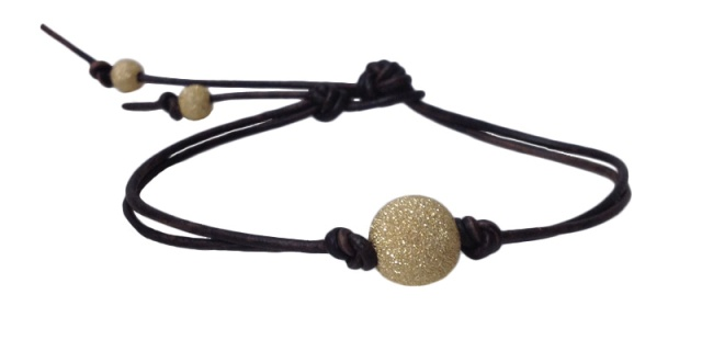 jewelry bracelet gold glitter ball leather