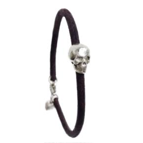Fine Silver Skull and HeartBracelet