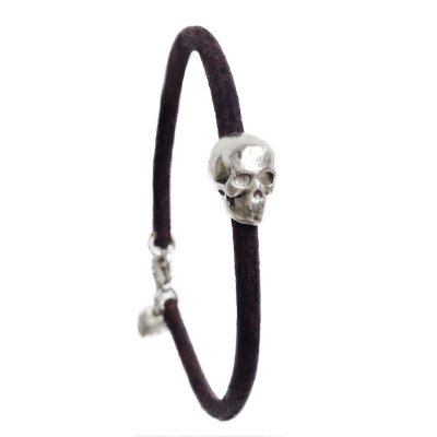 jewelry bracelet skull heart leather