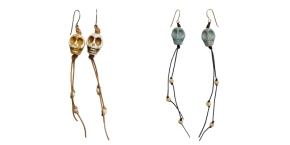 Earrings- Skulls with GlitterBeads