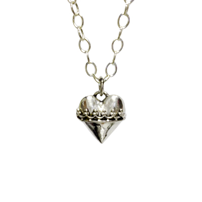 jewelry necklace fine silver heart crown