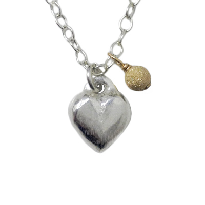 jewelry necklace fine silver heart gfball