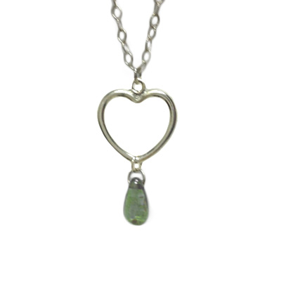 jewelry necklace heart teardrop