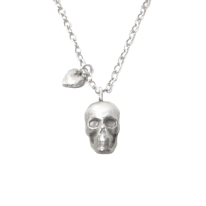 Skull and Heart Necklace