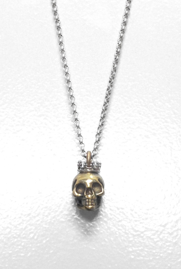 jewelry skull silver crown bronze