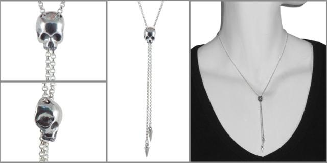 necklace skull bolo model