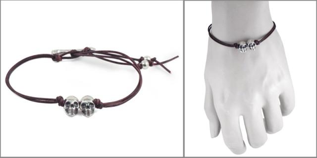 bracelet skull 2 side model