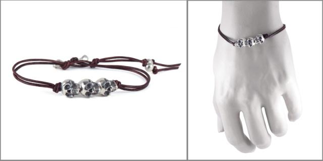 bracelet 3 skulls