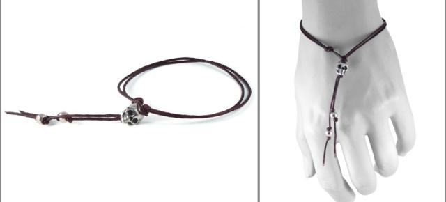 bracelet skull silver loop