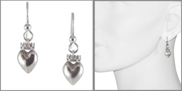 earring heart crowns model