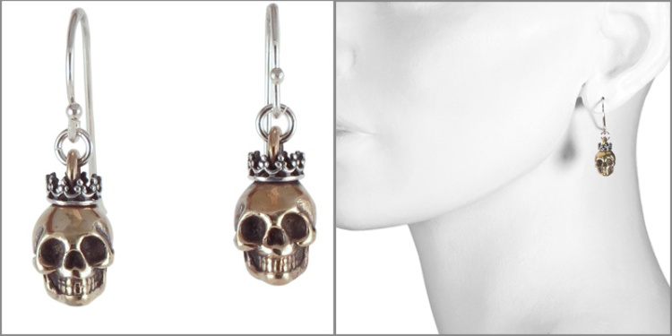 earring skull crown model