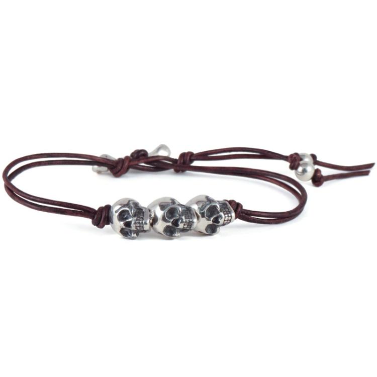 3 skull bracelet