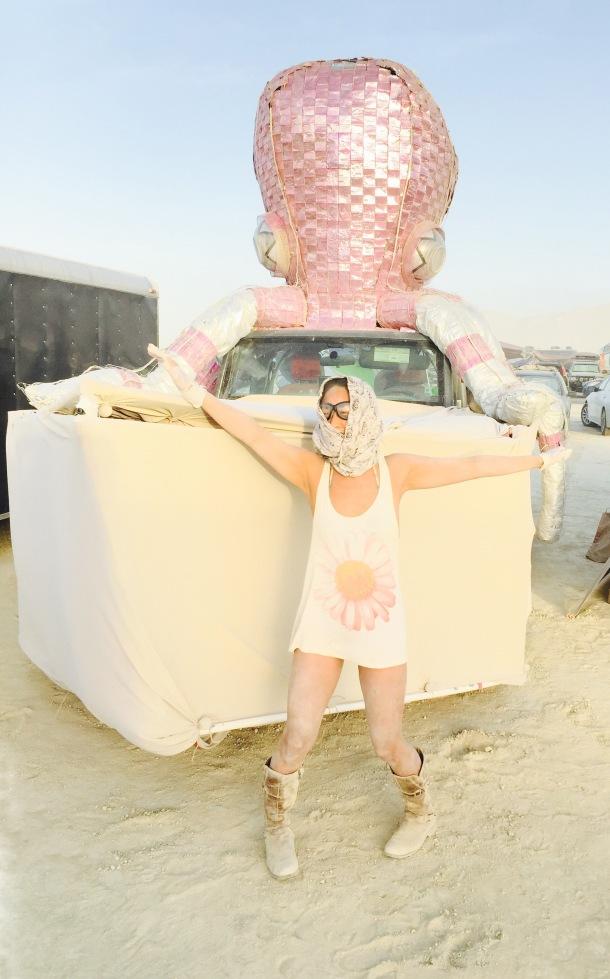 funky octopus art car