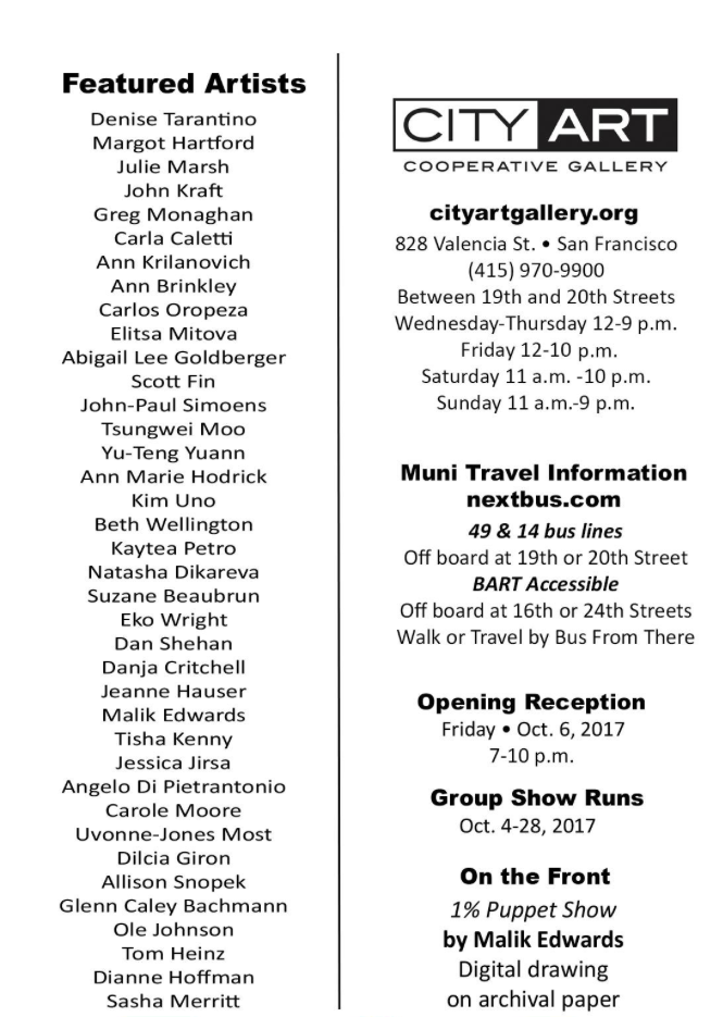 City Art October show